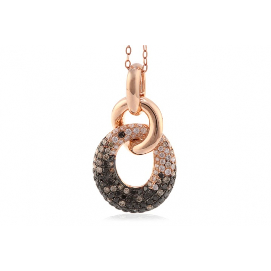 Black Diamond & White Diamond Pendant