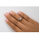 Twist of Shine Engagement Ring B15232