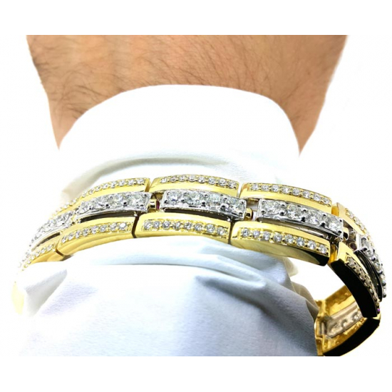 Yellow Gold Men Bracelet (OR0994)