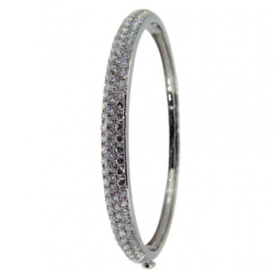 Micro Pave setting bangle