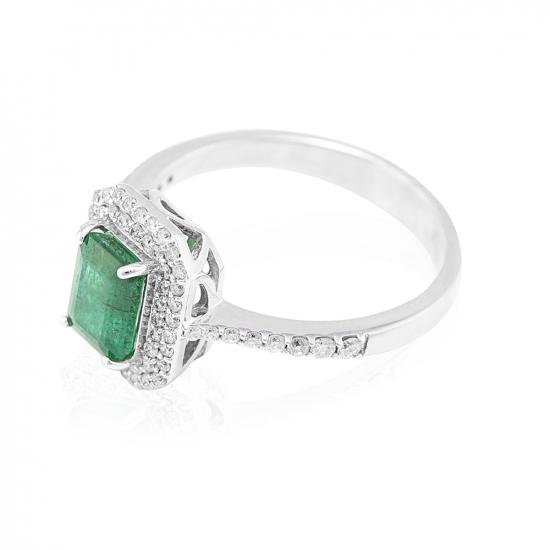 Elegant Emerald & Real Diamond Ring