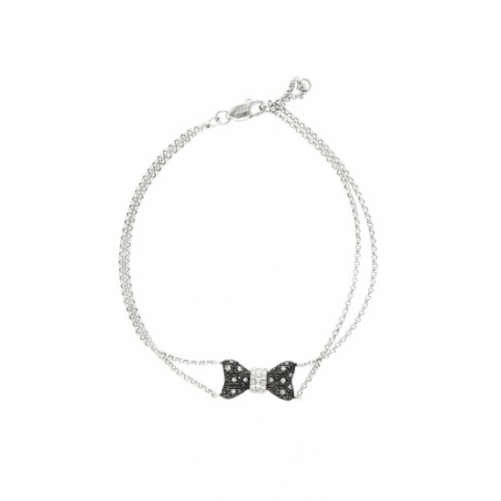 Black & White Diamond Ribbon Bracelet