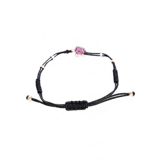 Diamond with Ruby Turtle Bracelet