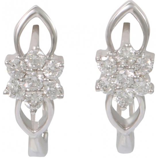 Flora clip earrings