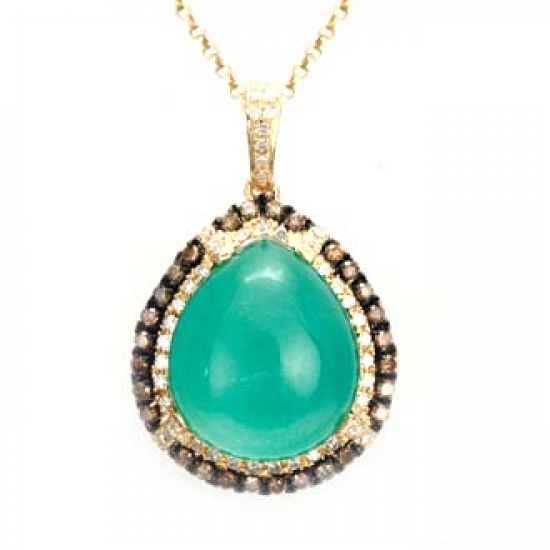 Shamrock Green Necklace - B14354