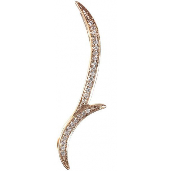 18K Rose Gold 0.09ct Round Diamond Earring