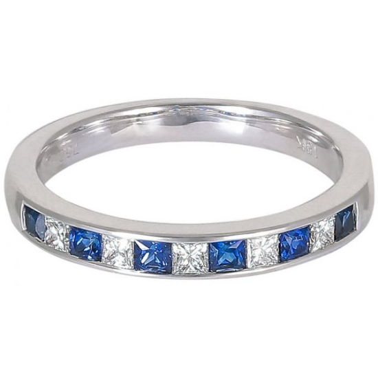 Princess cut Sapphire-Channel setting