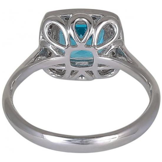 Blue Topaz Diamond Ring