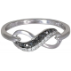 Black N White Diamond Ring