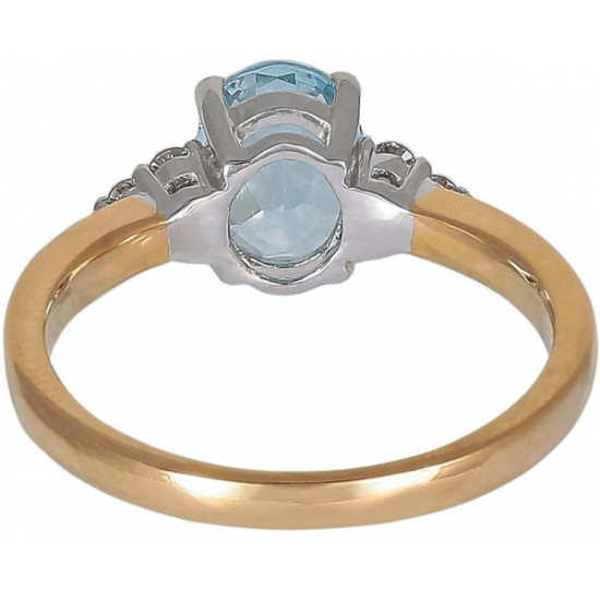 Dazzle Aquamarine diamond ring
