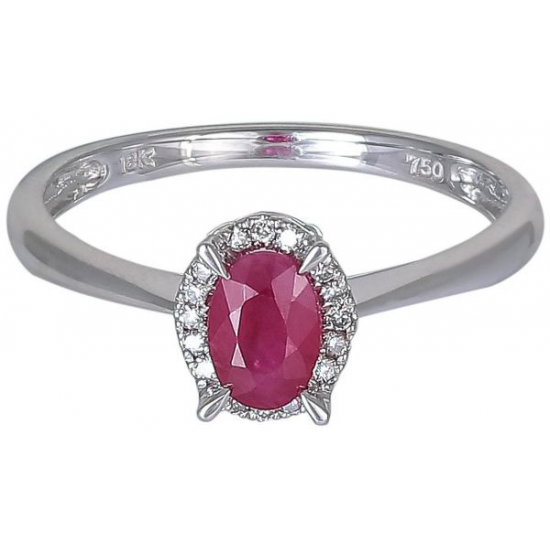 Lady In Red diamond ring