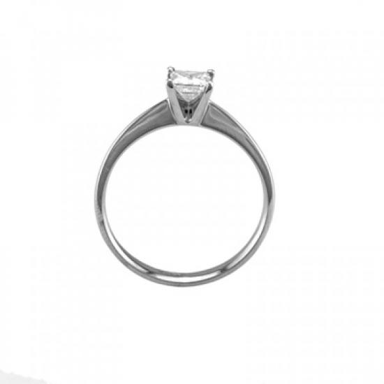 Four Prongs Princess Cut Engagement Ring