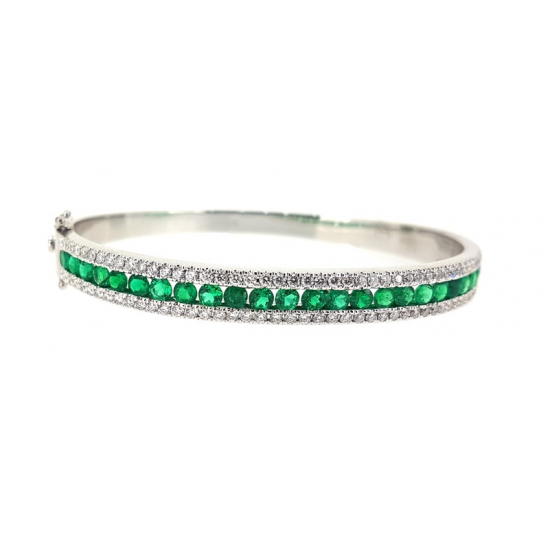 Emeralds diamond bangle