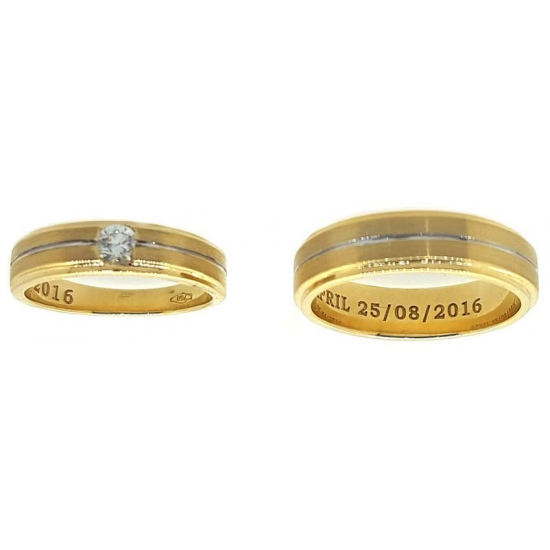 Contemporary wedding bands - OR1330