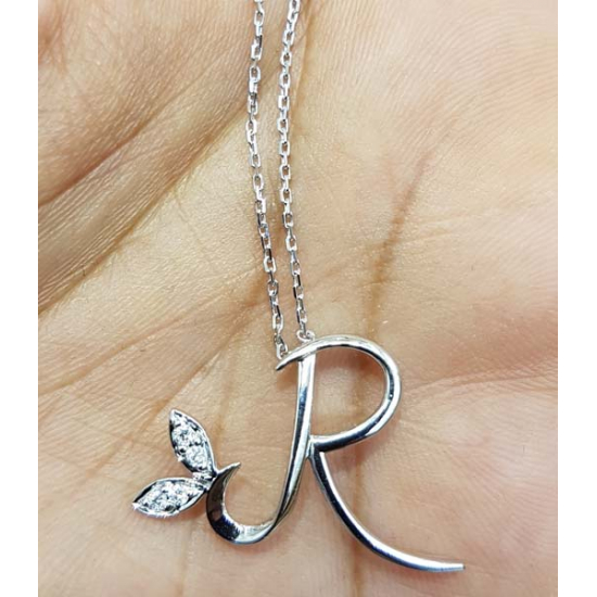 "Customised Diamond Letter ""R"" - ORKELY06"
