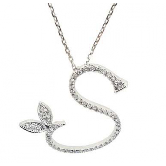 "Customised Diamond Letter ""S"" - ORKELY05"