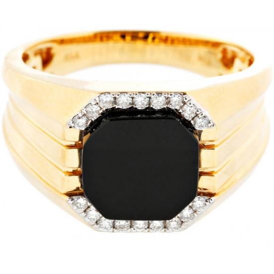 Mens Octa Agate Ring