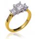 Princess Trio Engagement Ring - B17346/1
