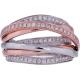 Crisscross Diamond Ring