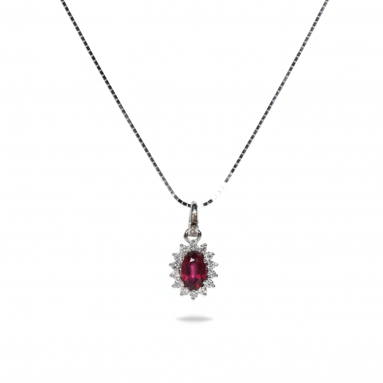 Colored Ruby Pendant