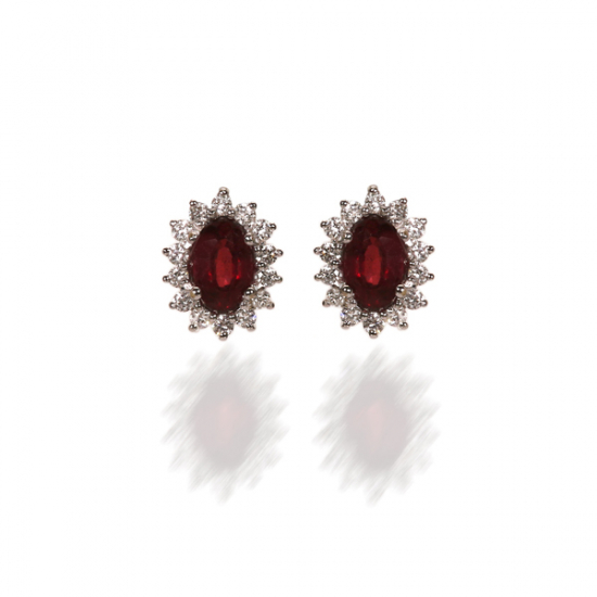 Timeless Ruby Earring