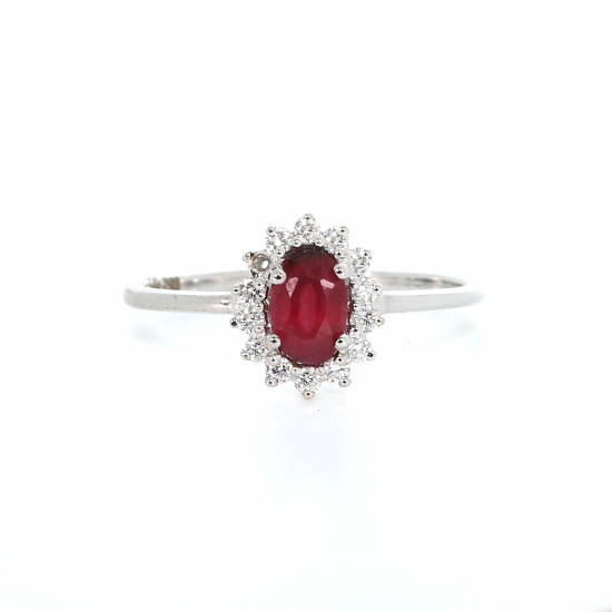 Flawless Ruby Diamond Ring