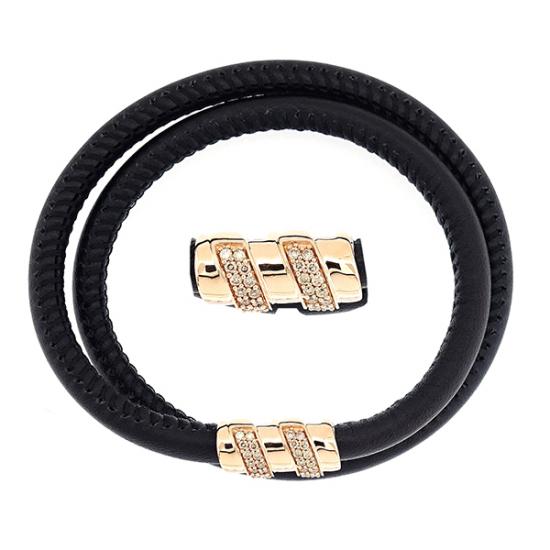 Bar Look gold diamond bracelet