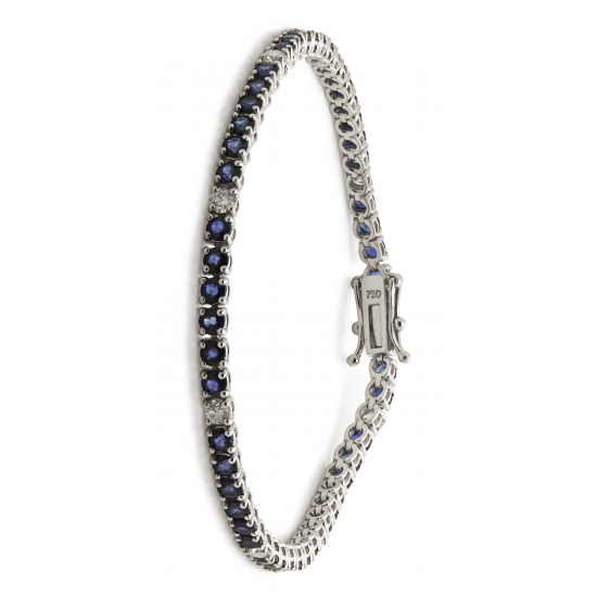 Sapphire Tennis Style Braclet