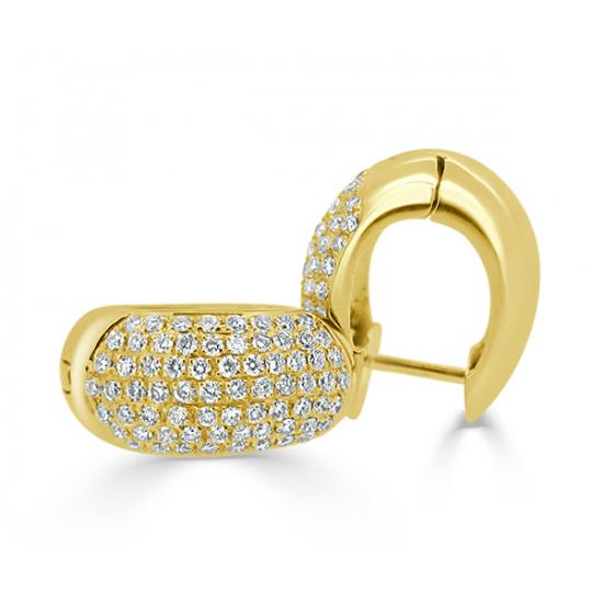 Diamond earrings-B05948