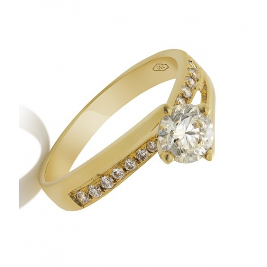 Twister Solitaire Ring