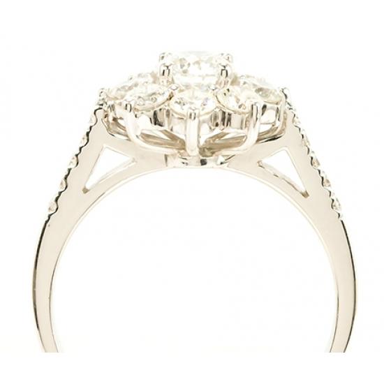 Eclipse white Diamond ring