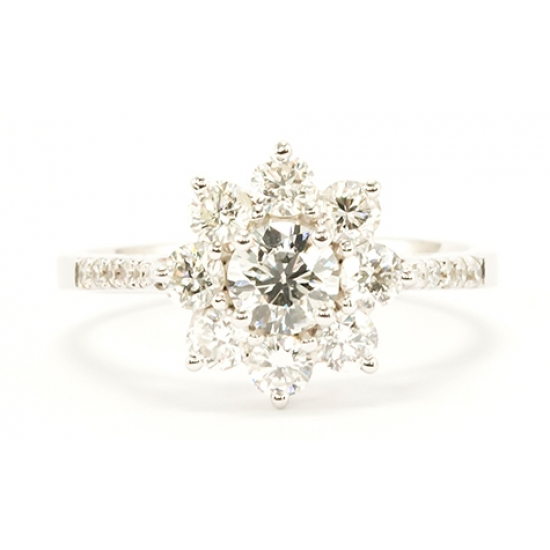 Eclipse white Diamond ring