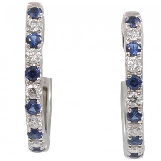 Sapphire and Diamond Hoop Earring - B08696