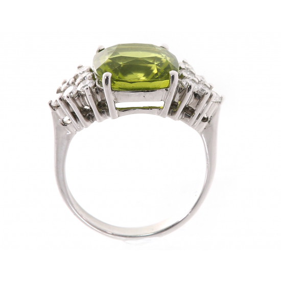 Sea Green Diamond Ring