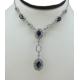Blue Fusion Sapphire Necklace