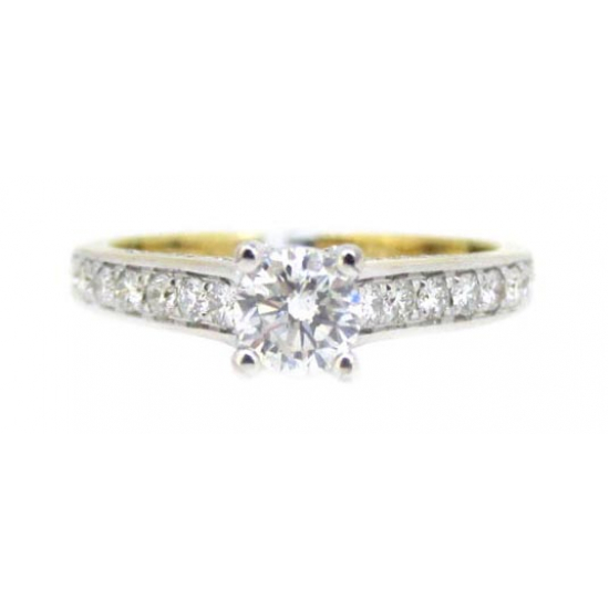 MICRO PAVE ENGAGEMENT RING-B09600