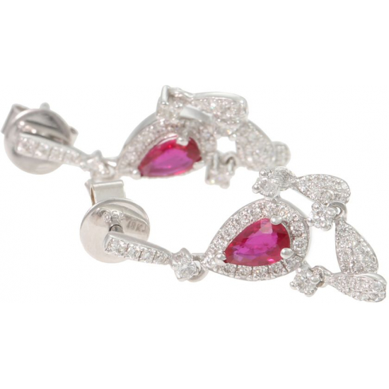 Ruby Chandelier Earings