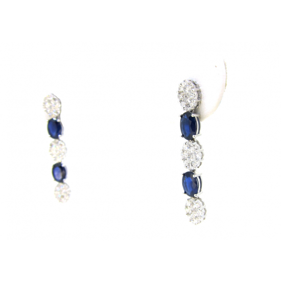 sapphire sonic earings