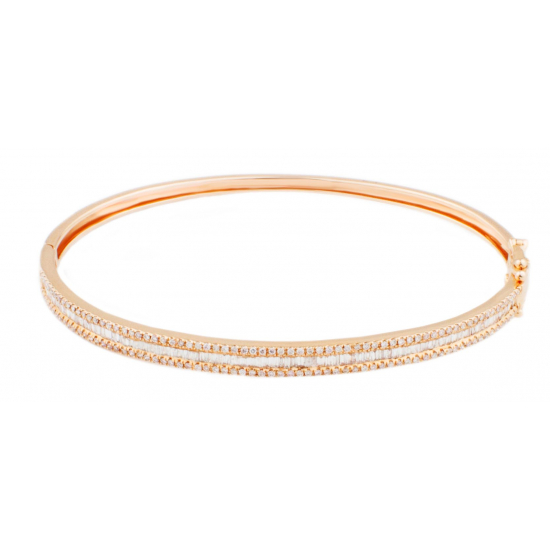 Bugget Bangle In rose gold-B10838