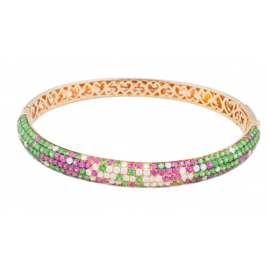 Multi-Gems Diamond Bangle-B11051