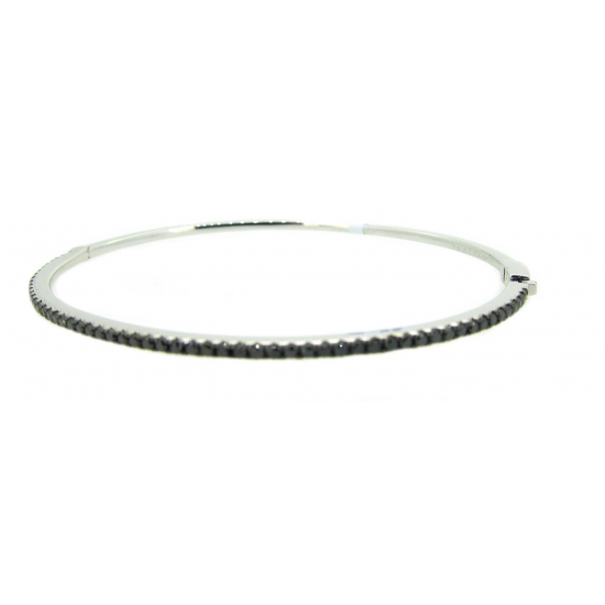 Black Sparkling Bangle-B11761