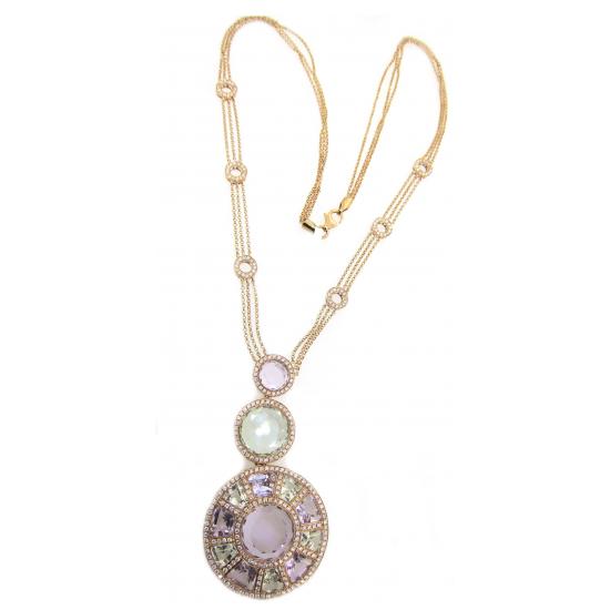 Full Moon Diamond Necklace