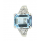 AQUAMARINE DIAMOND RING-B13006