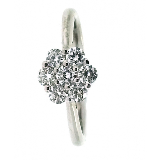 White Sunflower diamond ring