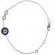 Sapphire and Infinity Bracelet