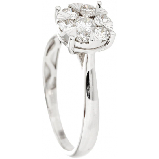 Framed Pressure Set Diamond Ring - B13661