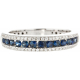 Vibrant blue sapphires and brilliant pavé diamond Set Ring - B13665