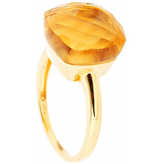 Pebbles Citine Yellow Gold Ring - B13667