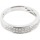 Cathedral Double Row Pave Diamond Ring - B13674