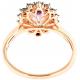 Amethyst with Black Diamond Ring - B13695
